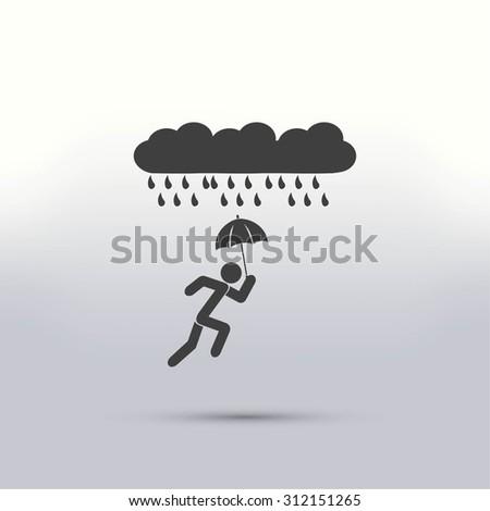 alone in the rain icon