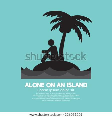 alone on an island black symbol