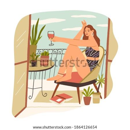 alone young woman sitting with