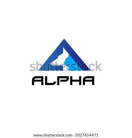 alpha vector logo with dog