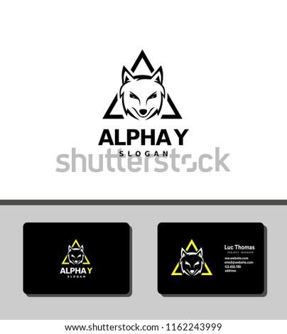alpha y logo