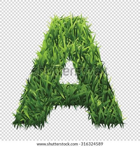 stock-vector-alphabet-a-of-green-grass-a-lawn-alphabet-with-gradient-light-green-to-dark-green