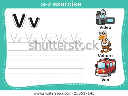 alphabet a z exercise with