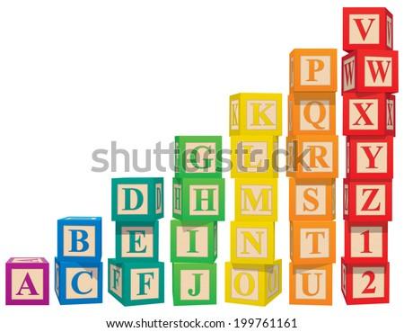 Alphabet Blocks ストックフォト ©