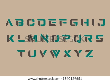 alphabet capital A to Z letter logo design Foto stock ©