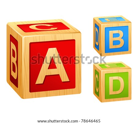 alphabet cubes with letters A,B,C