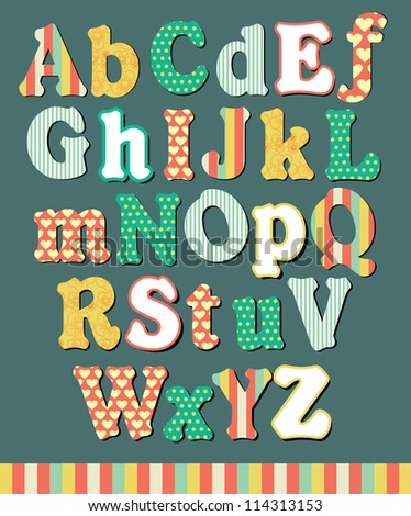 alphabet design. vector illustration
