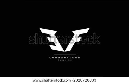 Alphabet EF , FE , F , E  initial Letter Monogram Icon Logo vector illustration Stok fotoğraf ©
