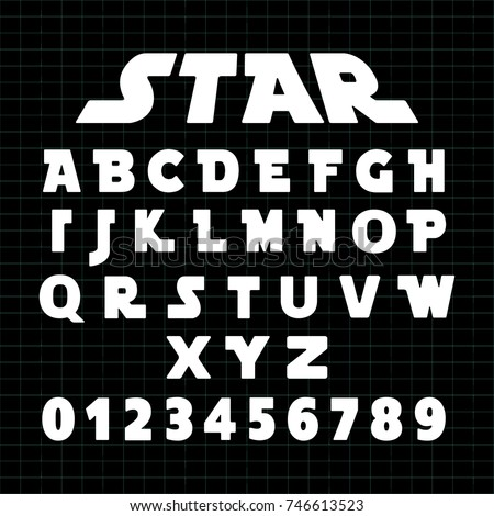 alphabet font template set of