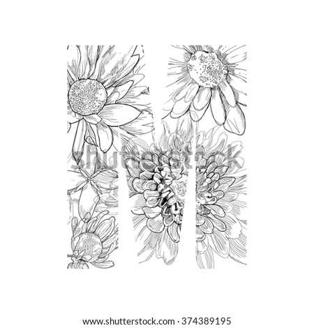 Alphabet From Flowers Drawing Vector Letter M Ez Canvas