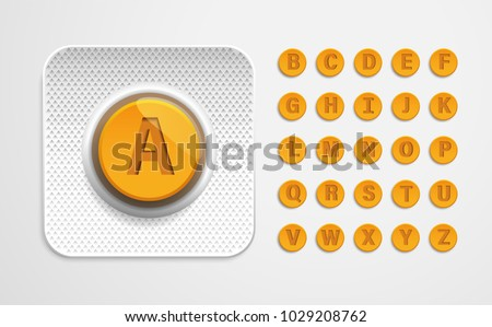 Alphabet from pills. Letters of tablets from blister pack. Pills font . 3d pills. 3d pills letters