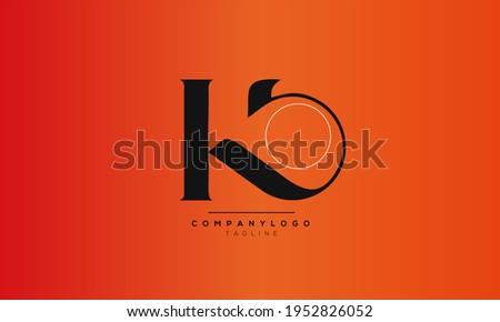 Alphabet KO,  initial Letter Monogram Icon Logo vector illustration  Zdjęcia stock ©