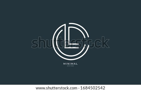 Alphabet letter icon logo CL or LC  Photo stock ©