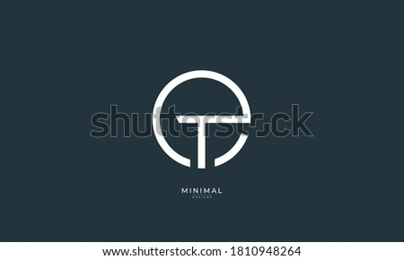 Alphabet letter icon logo ET or TE Stok fotoğraf ©
