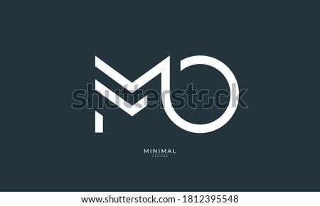 Alphabet letter icon logo MO Foto stock ©