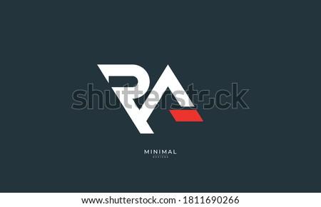 Alphabet letter icon logo RA Stock fotó ©