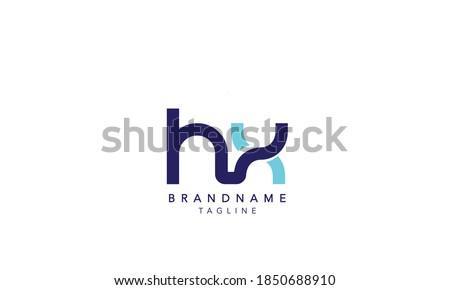 Alphabet letter Initial Monogram Logo HX, HX INITIAL,HX  letter ,H and  X Stock photo ©