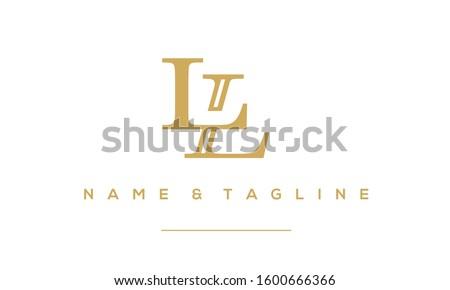 Alphabet letter monogram icon logo LL Stock fotó ©