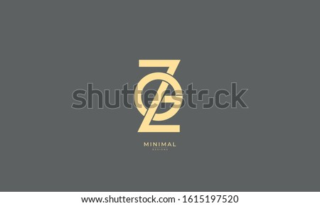 Alphabet letter monogram icon logo ZG or GZ Stok fotoğraf ©