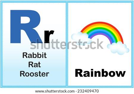 alphabet letter r with clip art