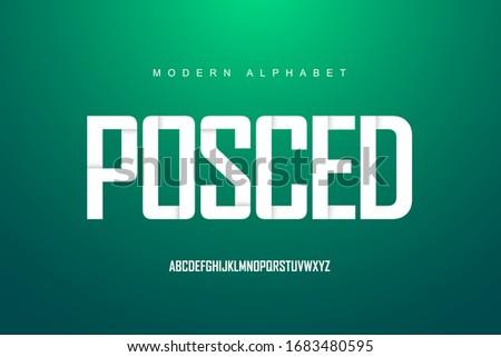 alphabet letters font set
