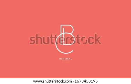 alphabet letters icon logo CB or BC Foto stock ©