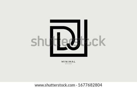alphabet letters icon logo DJ Stock fotó ©