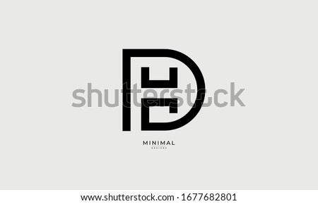 alphabet letters icon logo HD or DH Stock fotó ©