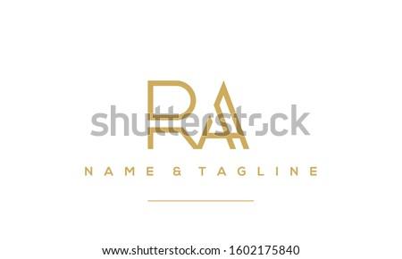 Alphabet letters icon logo RA or AR  Stock fotó ©