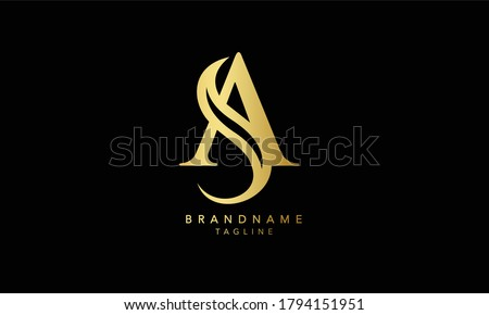 Alphabet letters Initial Monogram logo SA, AS, S and A Foto stock ©