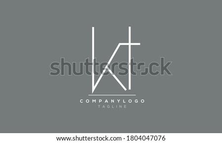 Alphabet letters Initials Monogram KT,TK,K and T Stok fotoğraf ©
