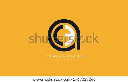Alphabet letters Initials Monogram logo ace,eca,ac,ca,ec Foto stock ©