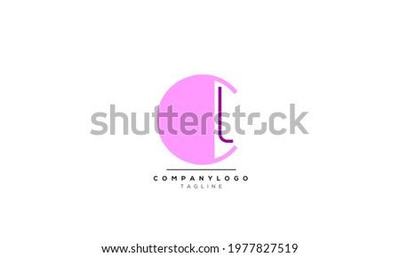 Alphabet letters Initials Monogram logo CL, CL INITIAL, CL letter Photo stock ©