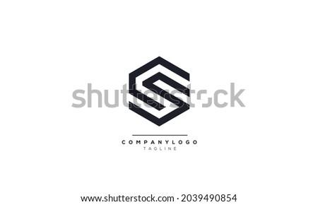 Alphabet letters Initials Monogram logo CS, CS INITIAL, CS letter Stock fotó ©