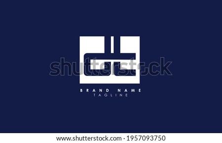 Alphabet letters Initials Monogram logo DT, TD, D and T Photo stock ©