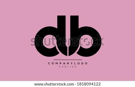 Alphabet letters Initials Monogram logo DUB Stok fotoğraf ©