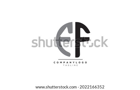 Alphabet letters Initials Monogram logo EF, EF INITIAL, EF letter Stok fotoğraf ©