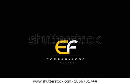 Alphabet letters Initials Monogram logo  EF,  FE,E AND F Stok fotoğraf ©
