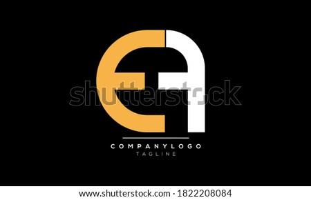 Alphabet letters Initials Monogram logo EF,FE,EA Stok fotoğraf ©