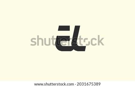 Alphabet letters Initials Monogram logo EL, LE, E and L Stock fotó ©
