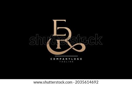 Alphabet letters Initials Monogram logo ER, ER INITIAL, ER letter Stock fotó ©