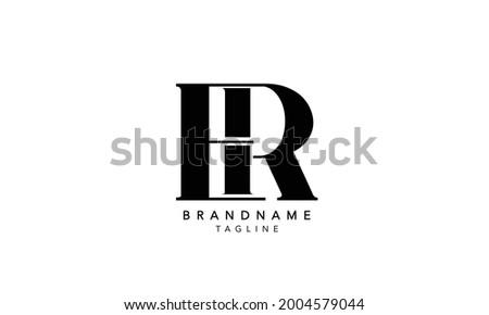 Alphabet letters Initials Monogram logo ER,ER INITIAL, ER letter , E and R Stock fotó ©