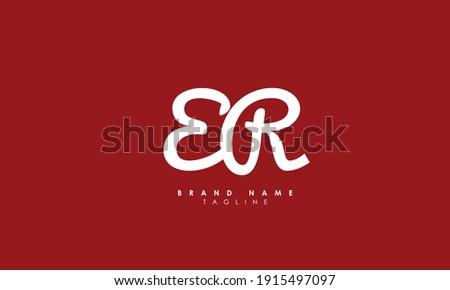 Alphabet letters Initials Monogram logo ER, RE, E and R Stock fotó ©