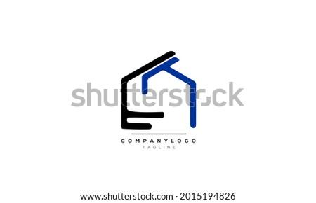 Alphabet letters Initials Monogram logo ET, ET INITIAL, ET letter Stok fotoğraf ©