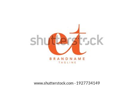 Alphabet letters Initials Monogram logo ET,ET INITIAL, ET letter , T and E Stok fotoğraf ©