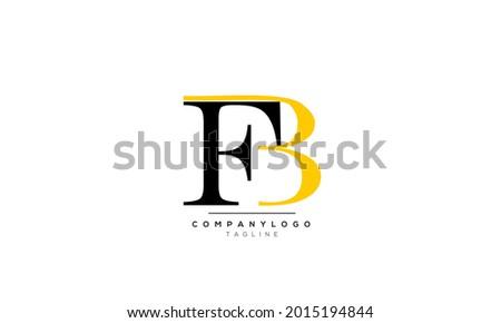 Alphabet letters Initials Monogram logo FB, FB INITIAL, FB letter