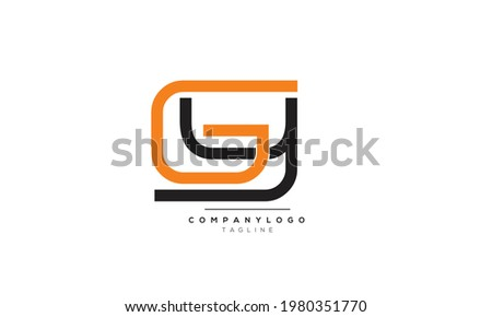 Alphabet letters Initials Monogram logo GY, GY INITIAL, GY letter Stock fotó ©