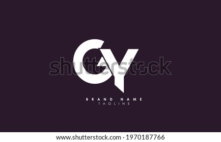 Alphabet letters Initials Monogram logo GY, YG, G and Y Stock fotó ©
