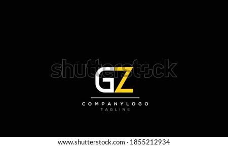 Alphabet letters Initials Monogram logo  gz, zg,g AND  z Stok fotoğraf ©