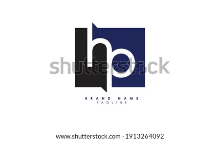 Alphabet letters Initials Monogram logo HP, PH, H and P, Alphabet Letters HP minimalist logo design in a simple yet elegant font, Unique modern creative minimal circular shaped fashion brands